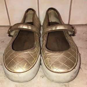 Juicy Couture Gold Mary Janes